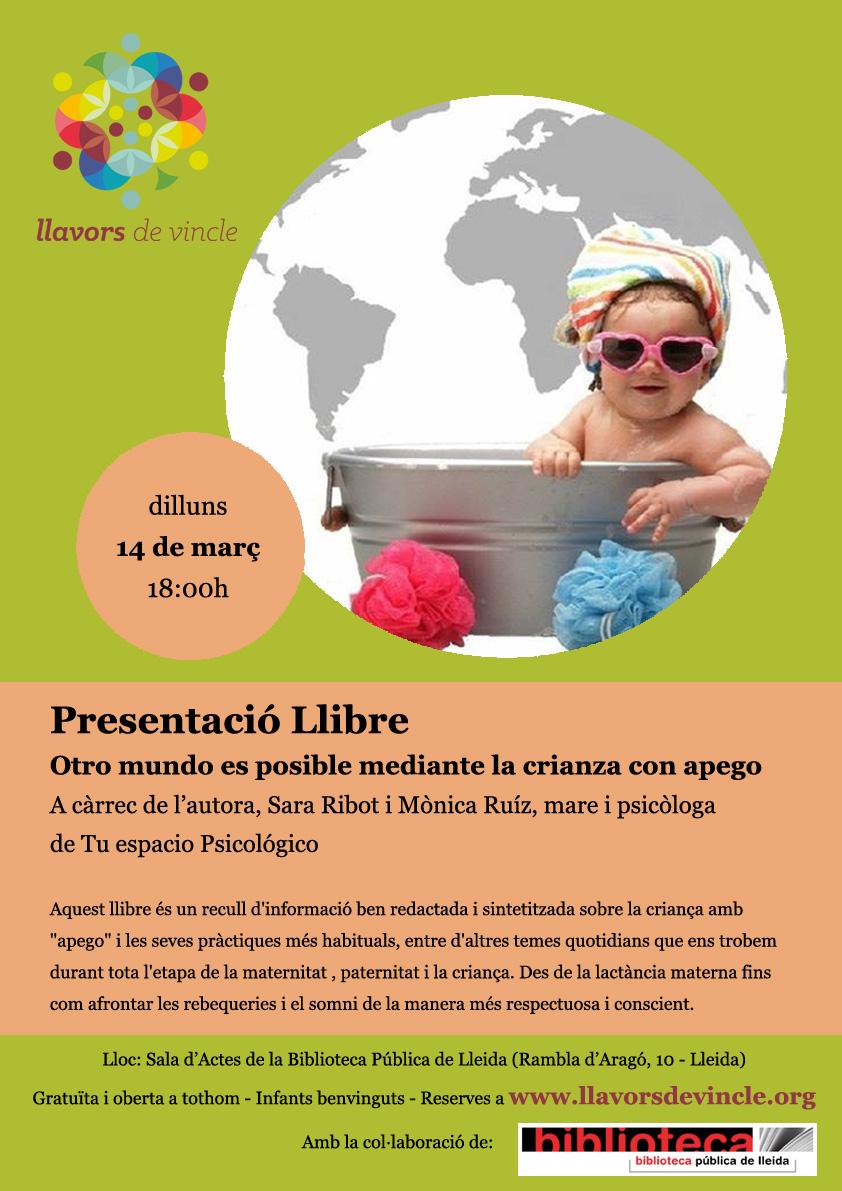 """Presentació Llibre """"Otro mundo es posible mediante la crianza con apego"""""""
