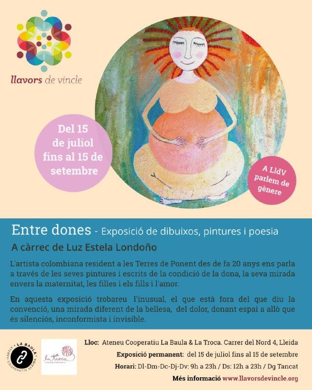 Entre dones - Exposició de dibuixos, pintures i poesia