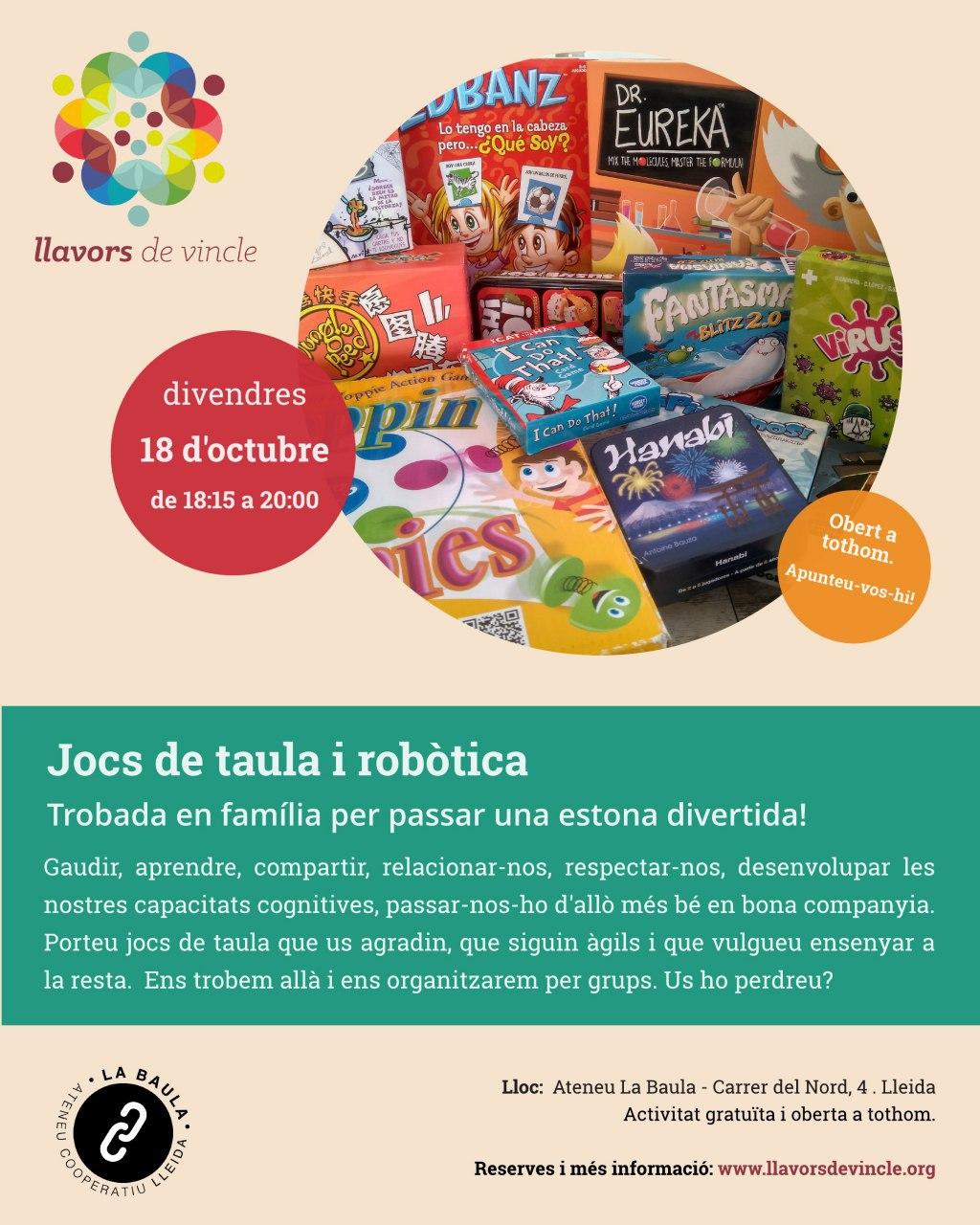 Cancel·lada: Jocs de taula i robòtica