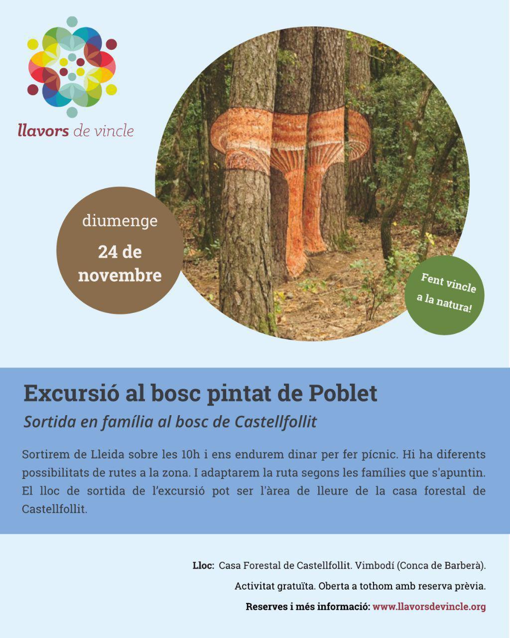 Excursió al bosc pintat de Poblet
