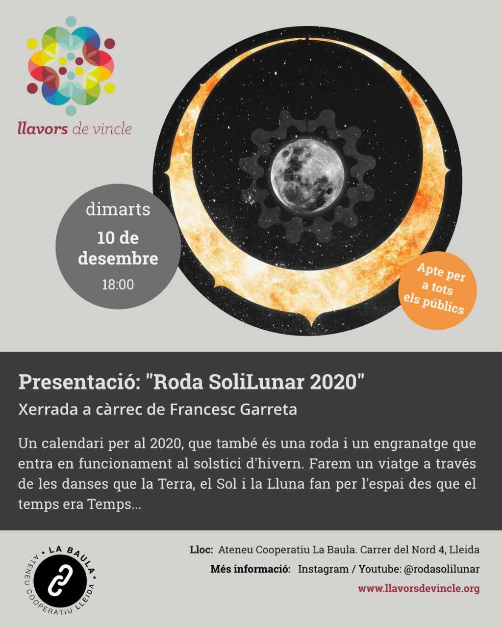 """Presentació: """"Roda SoliLunar 2020"""""""