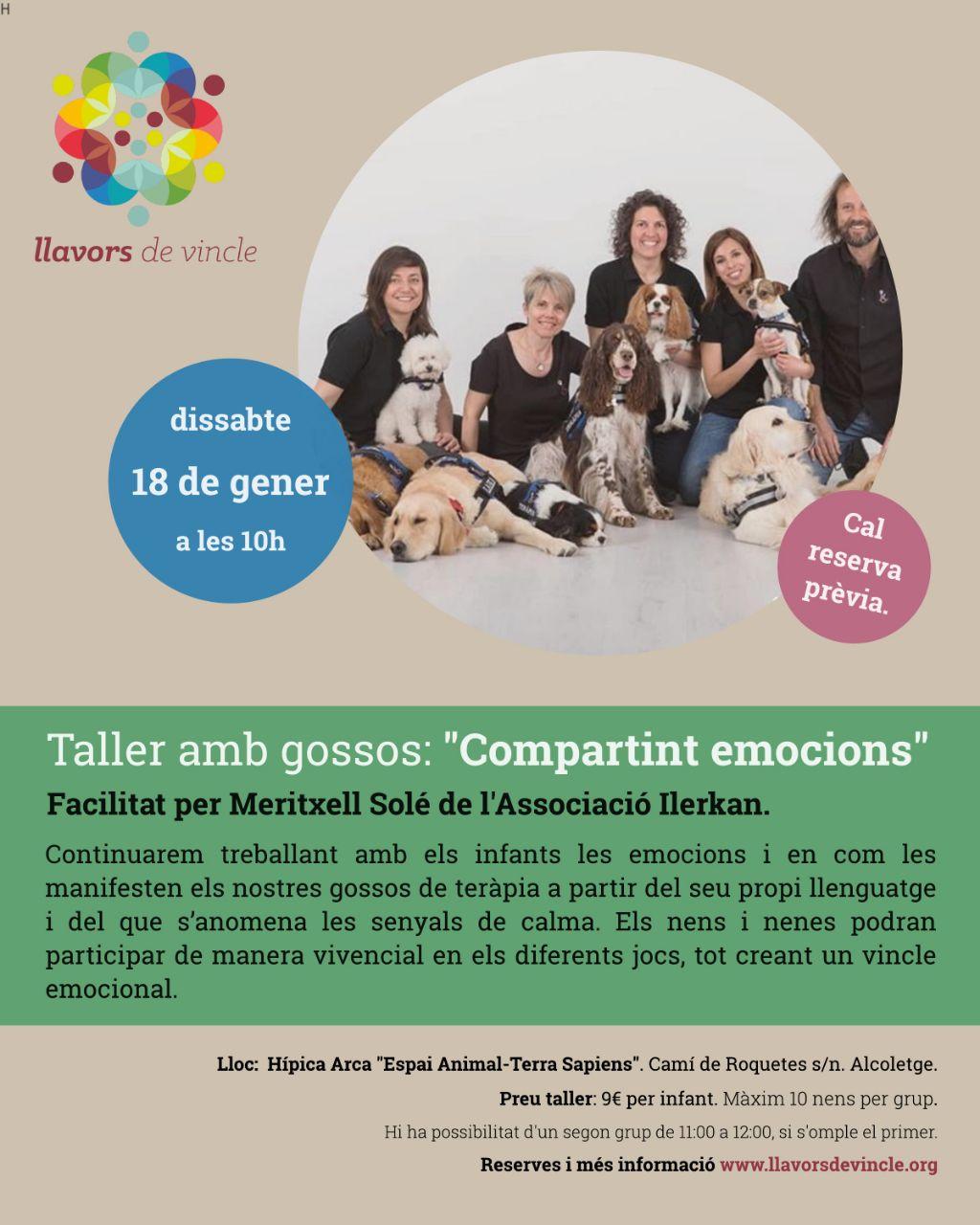 """Taller amb gossos: """"Compartint emocions"""""""