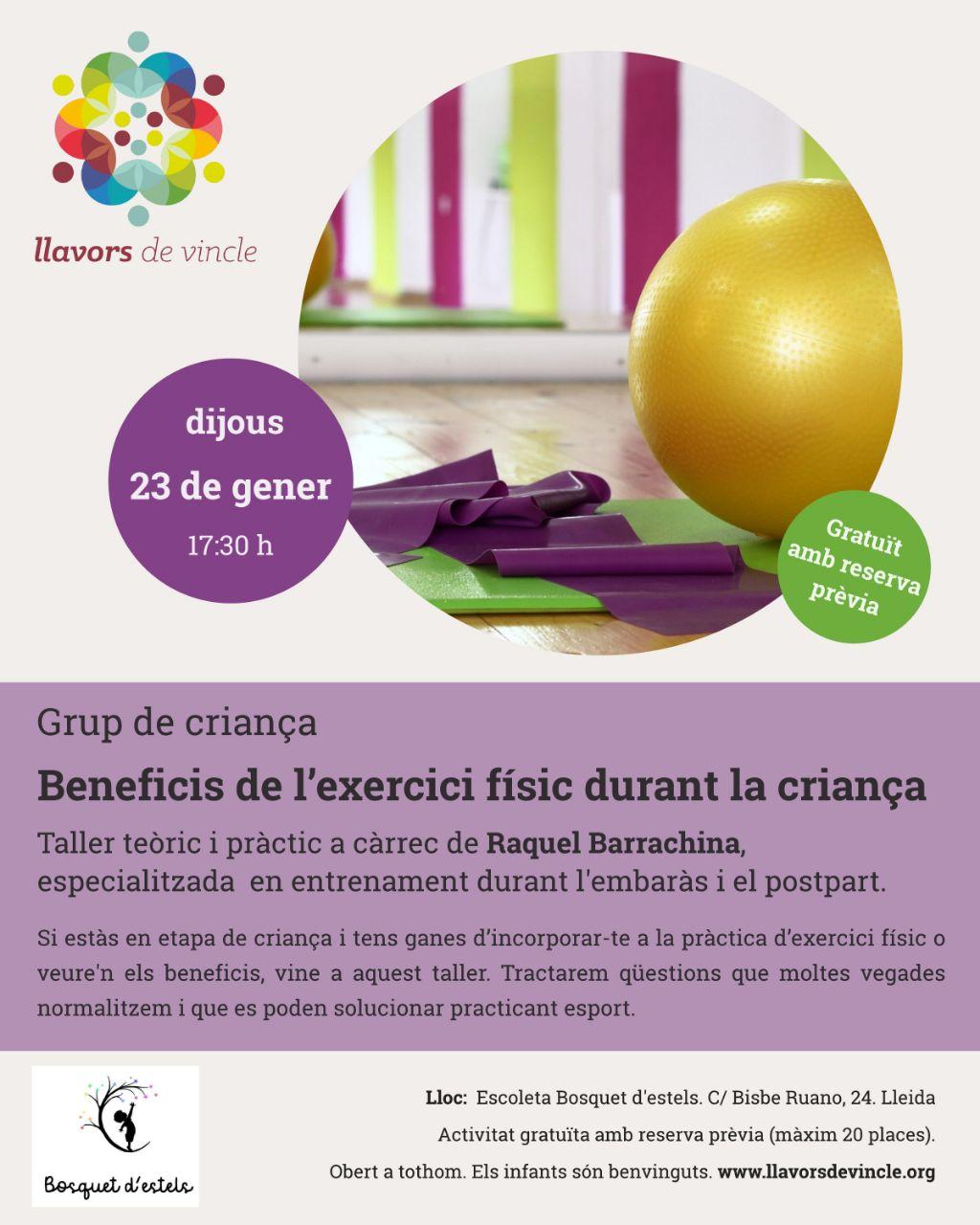 Beneficis de l'exercici físic durant la criança