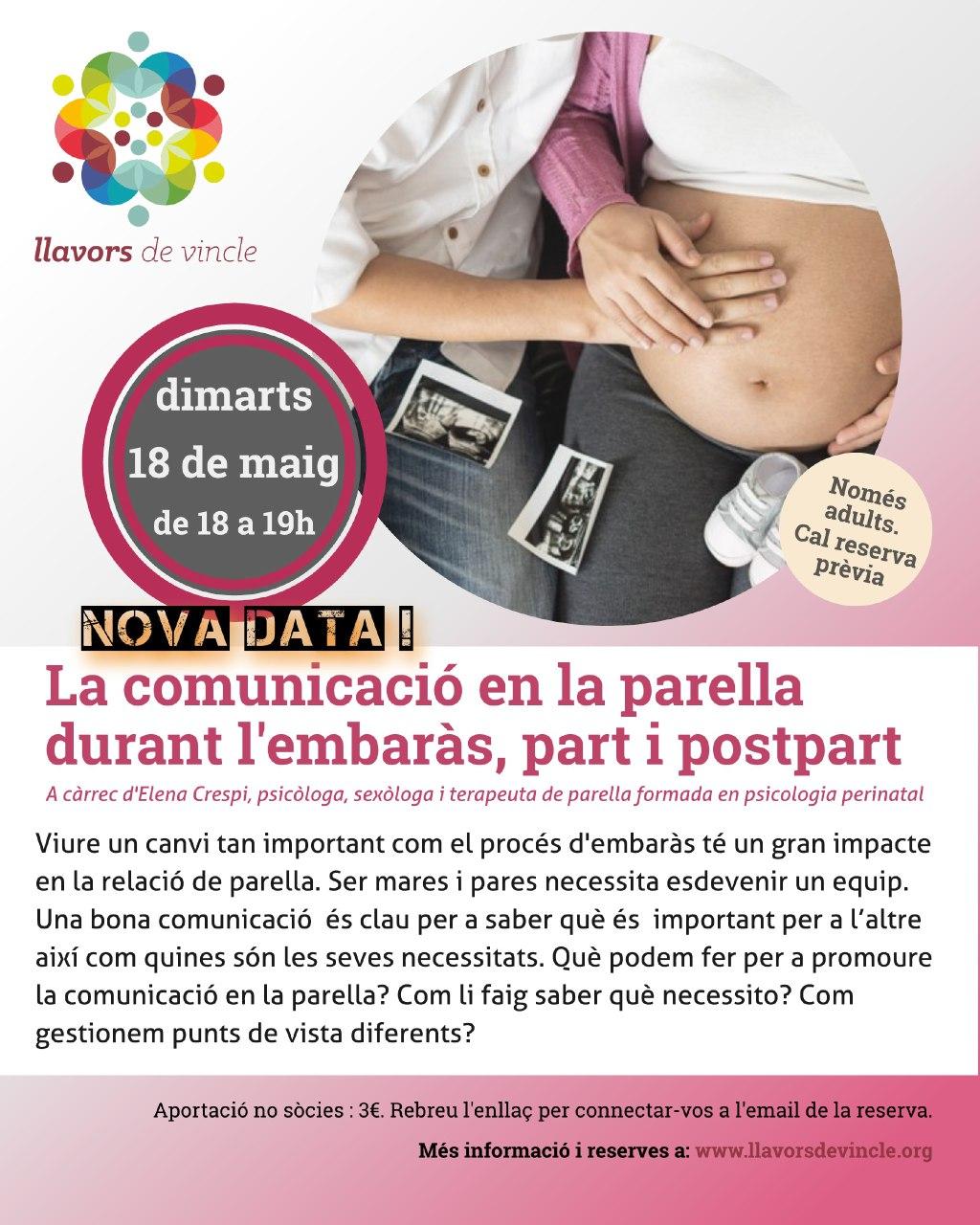 La comunicació en la parella durant l'embaràs, part i postpart
