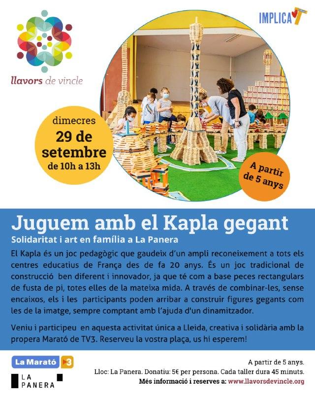 Juguem amb el Kapla gegant
